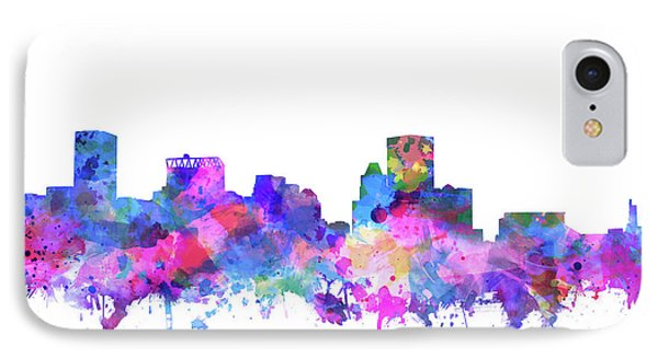 IPhone Case featuring the painting Baltimore Skyline Watercolor 4 by Bekim Art