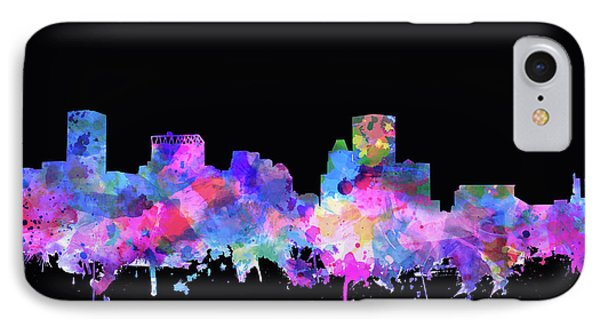 IPhone Case featuring the painting Baltimore Skyline Watercolor 5 by Bekim Art