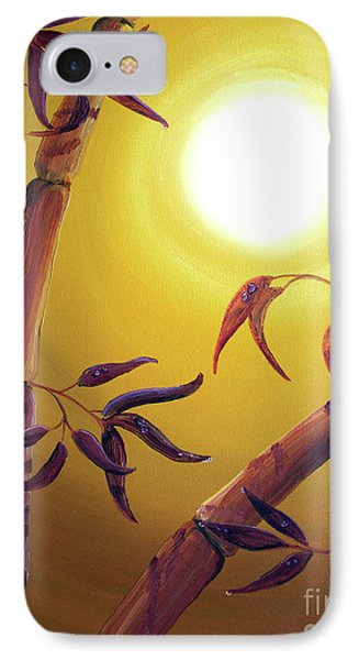 Bamboo After A Light Rain IPhone Case by Laura Iverson