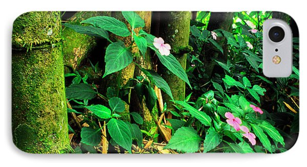 Bamboo And Impatiens El Yunque National Forest Phone Case by Thomas R Fletcher