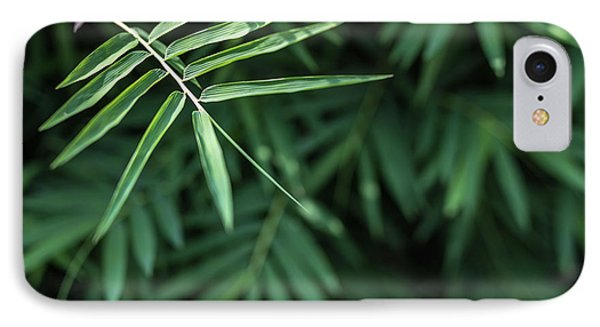 Bamboo Leaves Background IPhone Case by Jingjits Photography