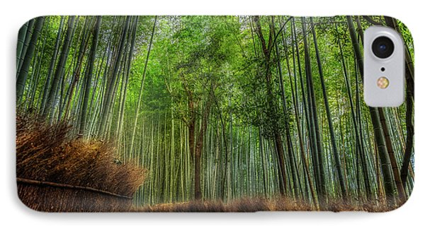 IPhone Case featuring the photograph Bamboo Path by Rikk Flohr