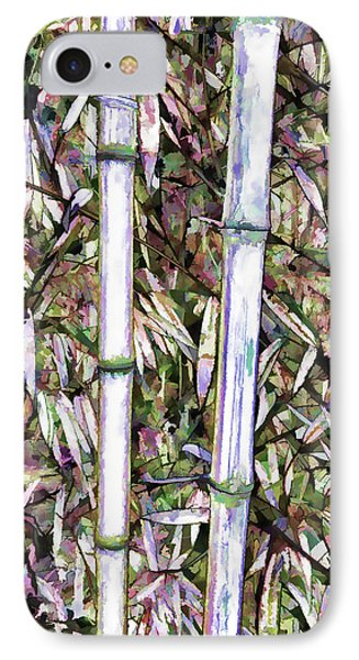 IPhone Case featuring the painting Bamboo Stalks by Lanjee Chee