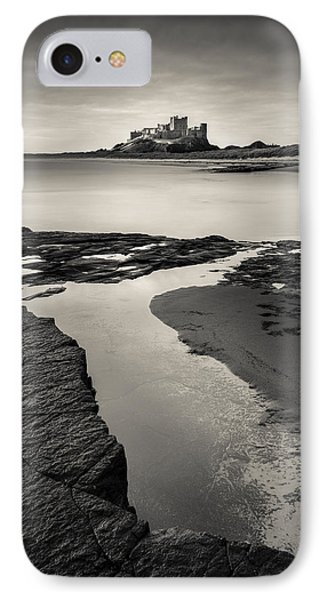 Bamburgh Castle IPhone Case by Dave Bowman