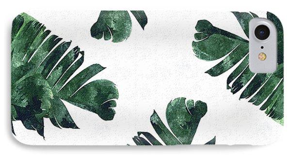 Banan Leaf Watercolor IPhone 7 Case by Uma Gokhale