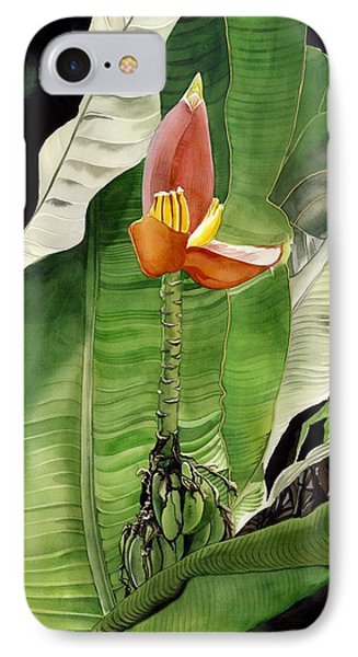 IPhone Case featuring the painting Banana Blossom by Alfred Ng