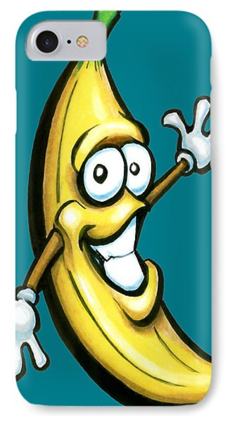 IPhone Case featuring the painting Banana by Kevin Middleton