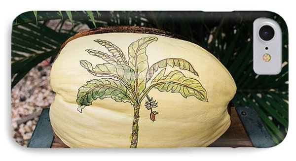 IPhone Case featuring the mixed media Banana Palm  by Nancy Taylor