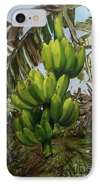 IPhone Case featuring the painting Banana Tree by Chonkhet Phanwichien