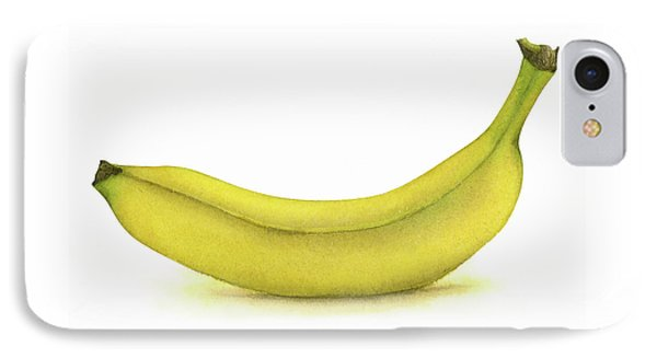 Banana Watercolor IPhone Case by Taylan Apukovska