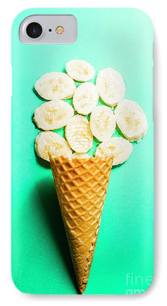 Bananas Over Sorbet IPhone Case by Jorgo Photography - Wall Art Gallery