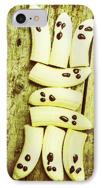 Banana iPhone 7 Case - Bananas With Painted Chocolate Faces by Jorgo Photography - Wall Art Gallery