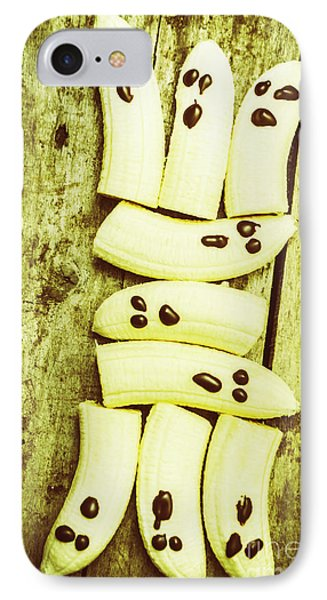 Bananas With Painted Chocolate Faces IPhone Case by Jorgo Photography - Wall Art Gallery
