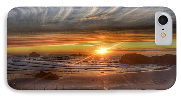IPhone Case featuring the photograph Bandon Sunset by Bonnie Bruno