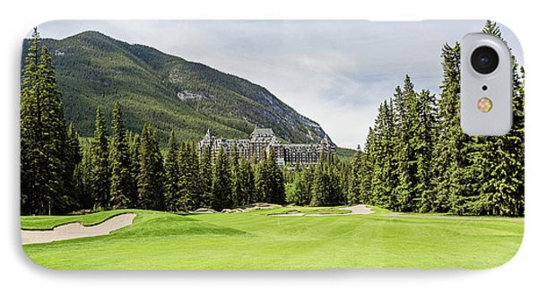 Banff Springs Golf And The Castle IPhone Case by Scott Pellegrin
