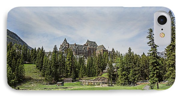 Banff Springs No 15 Fairway And The Castle IPhone Case by Scott Pellegrin