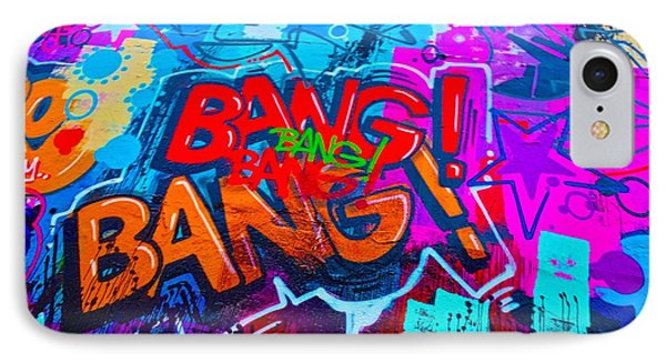 Bang Graffiti Nyc 2014 IPhone Case by Joan Reese