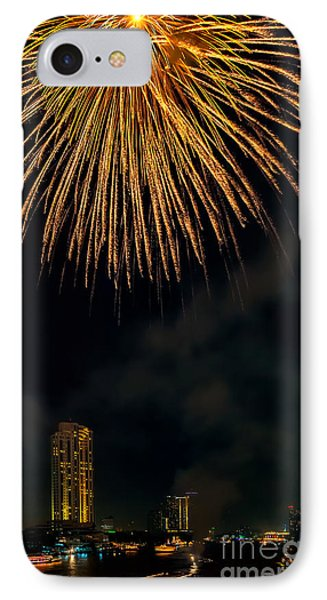 Bangkok Fireworks IPhone Case by Adrian Evans