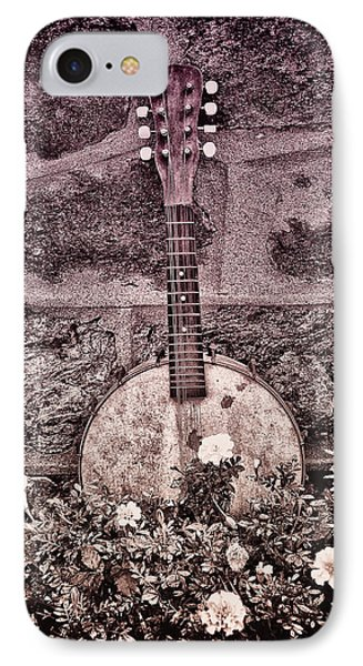 Banjo Mandolin On Garden Wall Phone Case by Bill Cannon