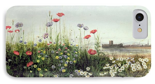Bank Of Summer Flowers Phone Case by Andrew Nicholl