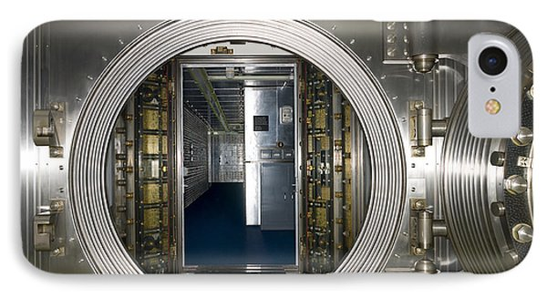 Bank Vault Interior Phone Case by Adam Crowley