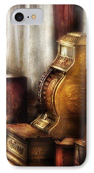 Banker - Brass Cash Register  Phone Case by Mike Savad