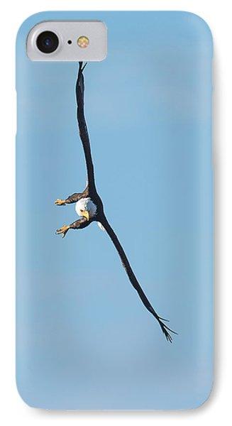 Banking Bald Eagle IPhone Case by Paul Freidlund