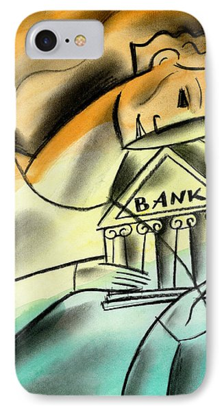 Banking IPhone Case by Leon Zernitsky