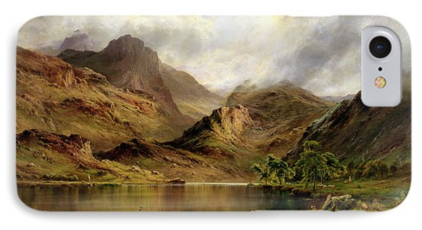 Banks Of Arrochar IPhone Case by Alfred de Breanski