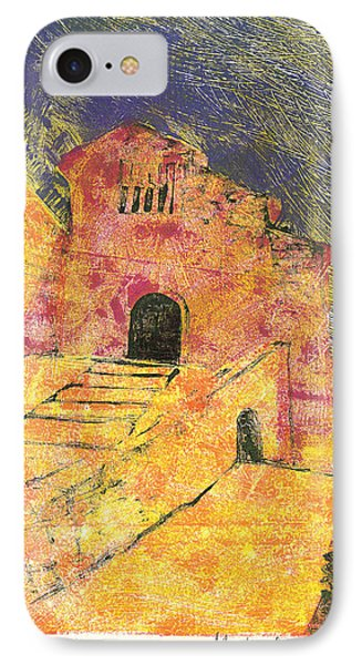 IPhone Case featuring the painting Banon Village In Provence by Martin Stankewitz