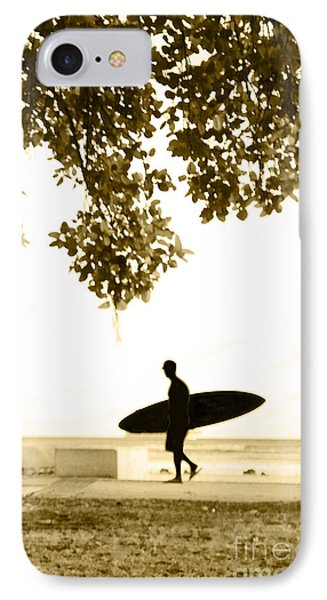 Banyan Surfer - Triptych  Part 3 Of 3 IPhone Case by Sean Davey