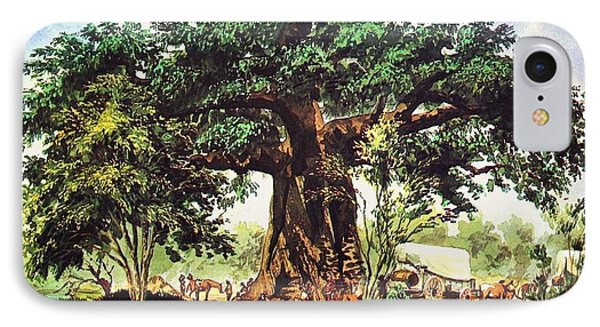 Baobab Tree - South Africa IPhone Case by Pg Reproductions