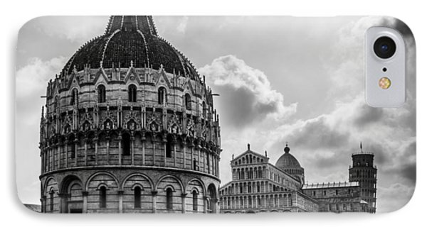 Baptistry Of St. John, Cattedrale Di Pisa, Leaning Tower Of Pisa, Italy IPhone Case by Chris Coffee