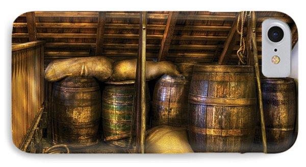 Bar - Wine Barrels Phone Case by Mike Savad