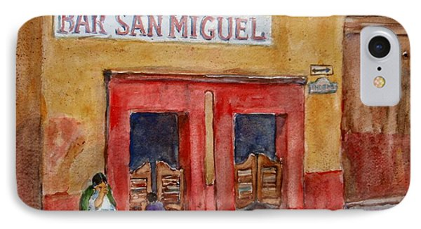 Bar San Miguel 2 IPhone Case by Jerald Peterson