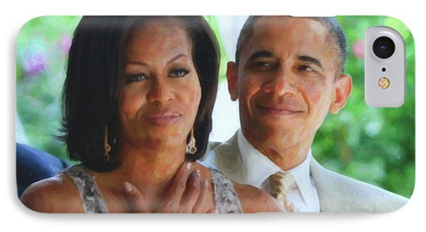 Barack And Michelle Obama IPhone Case by Asar Studios