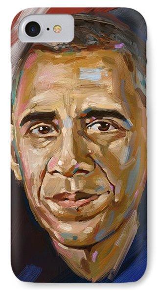 Barack IPhone Case by Arie Van der Wijst