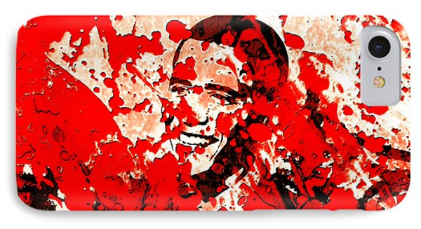 Barack Obama 44b IPhone Case by Brian Reaves