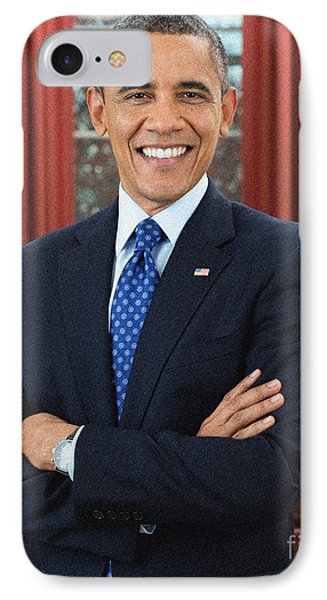 Barack Obama IPhone Case by Celestial Images