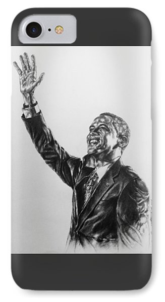 IPhone Case featuring the painting Barack Obama by Darryl Matthews