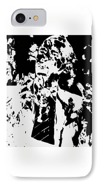 Barack Obama Paint Splatter 4b IPhone Case by Brian Reaves