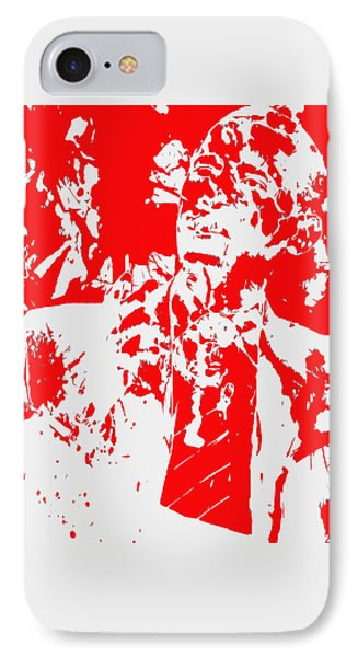 Barack Obama Paint Splatter 4d IPhone Case by Brian Reaves