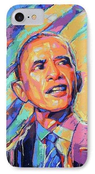 Barack Obama - Pop Art - American Icon IPhone Case by Damon Gray