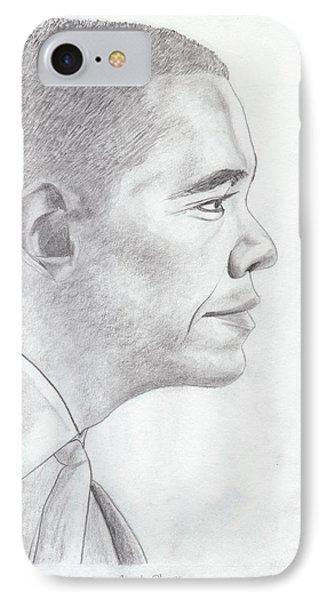 Barak Obama Phone Case by M Valeriano