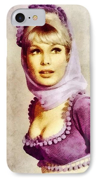 Barbara Eden, Vintage Actress By John Springfield IPhone Case