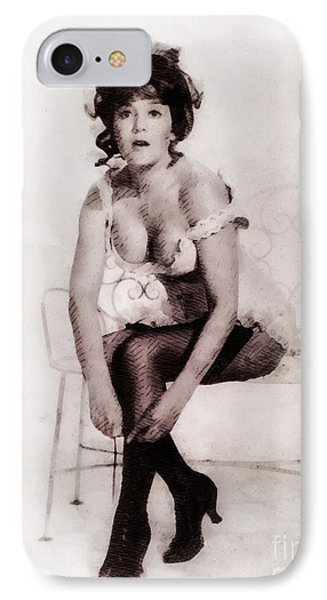 Barbara Ewing, Vintage Actress IPhone Case by John Springfield