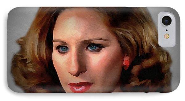 Barbara Streisand IPhone Case by Sergey Lukashin