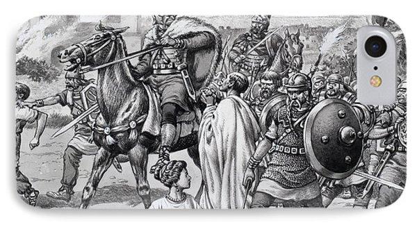 Barbarian Attack On The Romano British IPhone Case