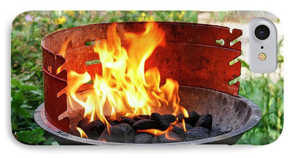 IPhone Case featuring the photograph Barbecue With Flames by Patricia Hofmeester