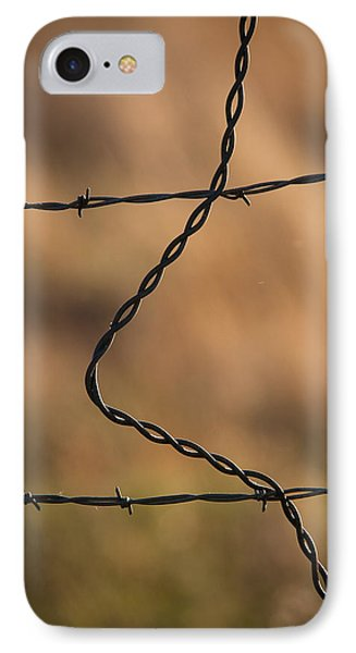 Barbed And Bent Fence IPhone Case by Monte Stevens